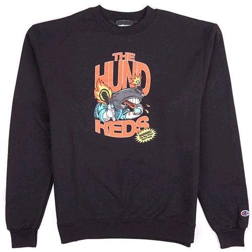 THE HUNDREDS X CHAMPION Calling Crew Neck BLK