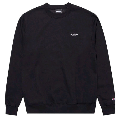THE HUNDREDS X CHAMPION Rich Logo Crew Neck BLK