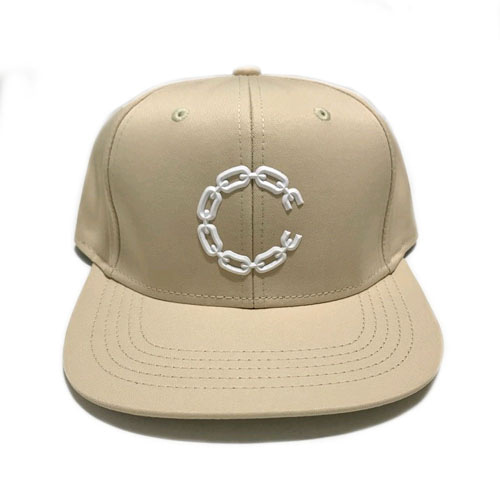 CROOKS & CASTLES Snapback Cap - Beveled Chain C New Khaki