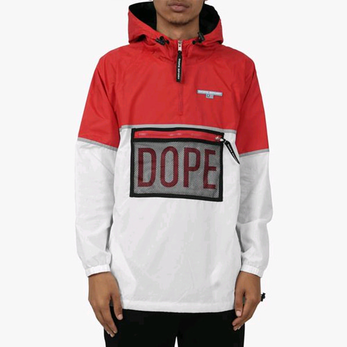 DOPE Sierra Windbreaker Black/Red