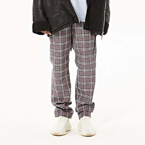 FNTY burberry check Vest pants Grey