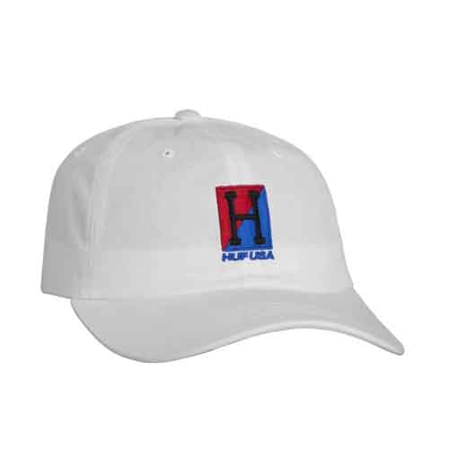 HUF STADIUM RELAY CURVED VISOR HAT WHITE