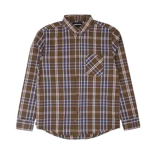 THE HUNDREDS Fremont LS Woven Brown