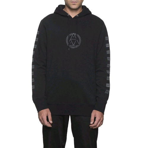 HUF BLACKOUT TRIPLE TRIANGLE PULLOVER HOODIE
