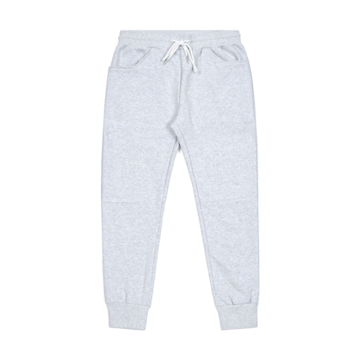 STIGMA BLANK HEAVY SWEAT JOGGER PANTS WHITE MELANGE