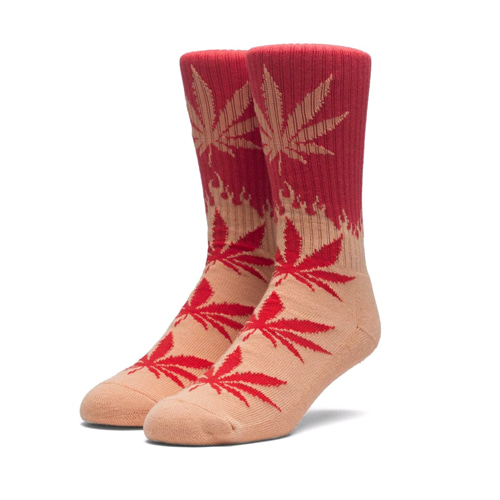 HUF FLAME PLANTLIFE SOCKS RED/ORANGE