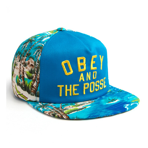 OBEY ADVENTURE SNAPBACK BLUE