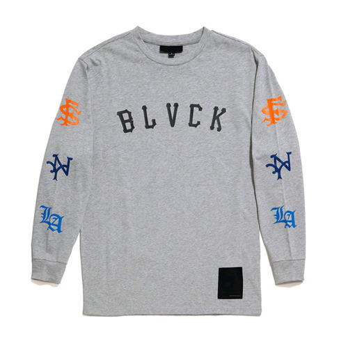 BLACK SCALE All City L/S T-Shirts (Heather Grey )