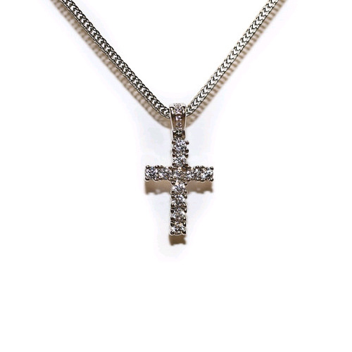 Design By TSS SILVER MINI CROSS Necklace (SILVER)