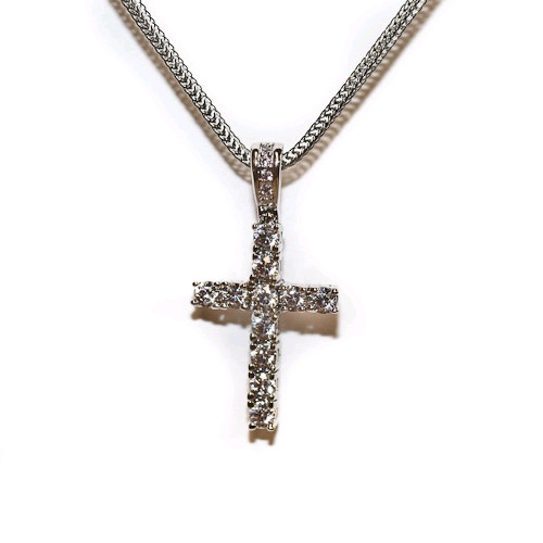 Design By TSS SILVER MEDIUM CROSS Necklace (SILVER)