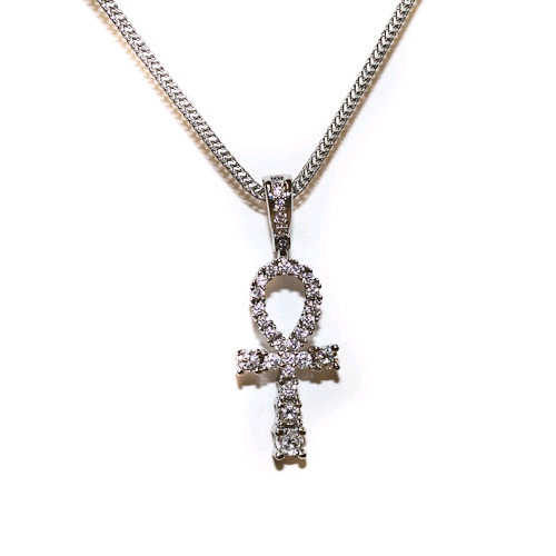 Design By TSS SILVER MEDIUM ANKH Necklace (SILVER)