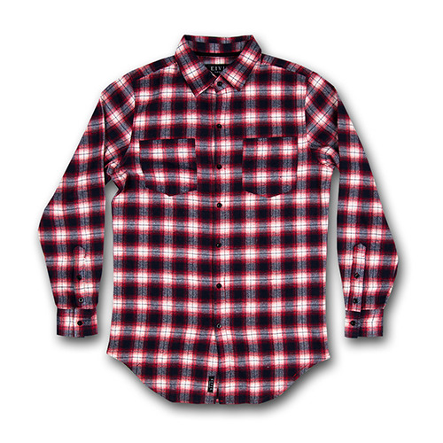 CIVIL REGIME REGIME FLANNEL BUTTON UP (RED)