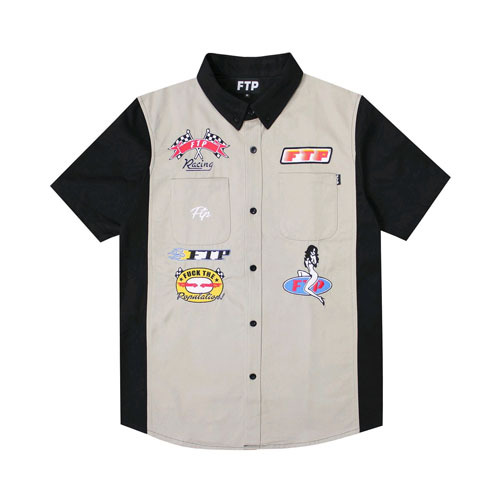 FTP PIT CREW WORK SHIRT(GREY)