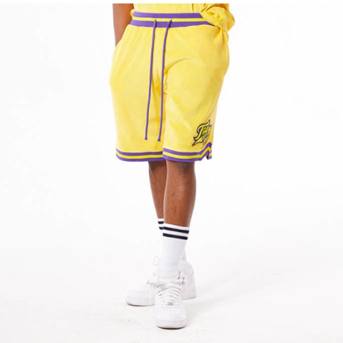 FNTY Velvet Sports Jersey Short Yellow