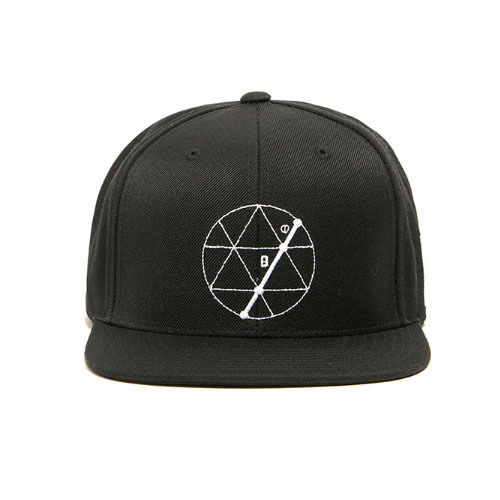 BLACKSCALE Tres Angulos Snap Back Black