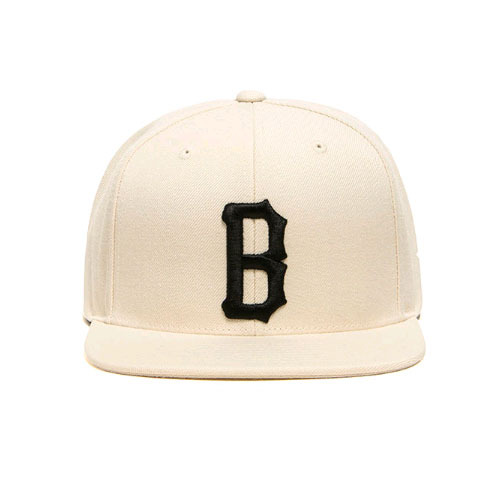 BLACKSCALE B Logo Snap Back Cream