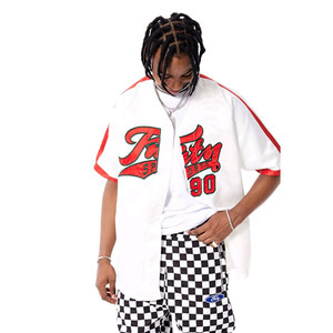 FNTY Satin Baseball Jersey White
