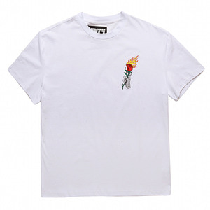 FNTY Flame rose oversize T-shirt White
