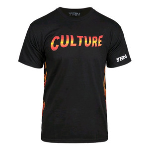 YRN FLAME CULTURE TEE BLK