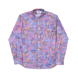 PALACE WARP PATTERN SHIRT PURPLE