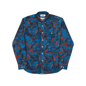 PALACE WARP PATTERN SHIRT TEAL