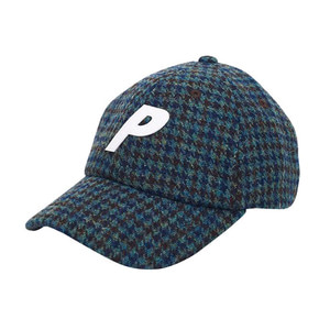 PALACE P 6-PANEL HARRIS TWEED BLUE CHECK
