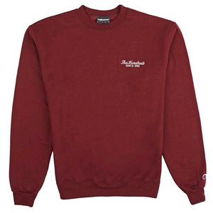 THE HUNDREDS X CHAMPION Rich Logo Crew Neck BRG