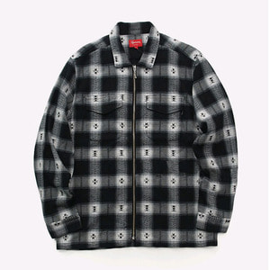 SUPREME PLAID FLANNEL ZIP UP