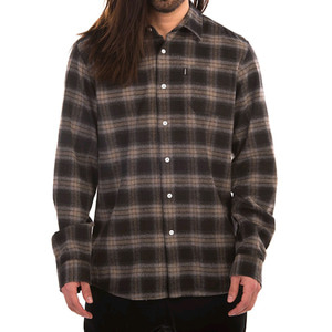 CROOKS & CASTLES  L/S Flannel Shirt - Desert Olive Multi