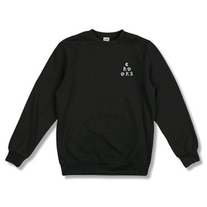 CROOKS & CASTLES Crew Sweatshirt Stacked - Black