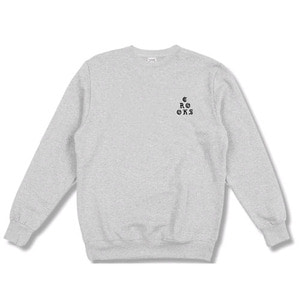 CROOKS & CASTLES Crew Sweatshirt Stacked - Heather Grey