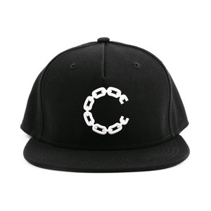 CROOKS & CASTLES Snapback Cap - Beveled Chain C Black