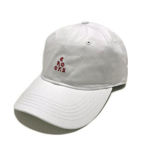 CROOKS & CASTLES Strapback Cap - Stacked Sport White