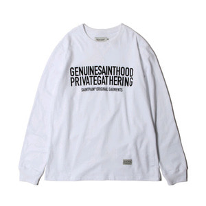 SAINTPAIN SP GNSH TEE LS-WHITE