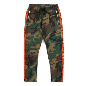 STIGMA LINE ZIPPER JOGGER PANTS ORANGE