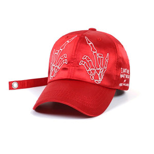 STIGMA BONES SATIN BASEBALL CAP RED