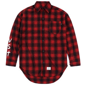 STIGMA [무료배송]VST OVERSIZED WOOL CHECK SHIRTS RED