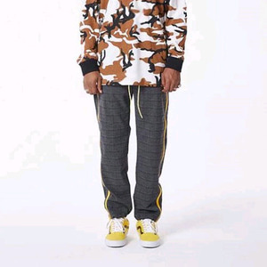 FNTY Side zip-up pants Chacoal/Yellow