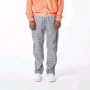FNTY Side zip-up pants Grey/Blue