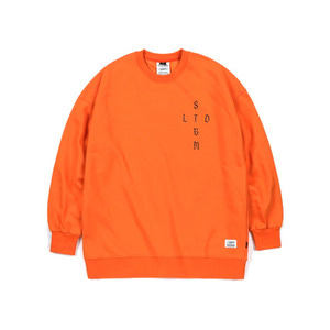 STIGMA VATOS OVERSIZED HEAVY SWEAT CREWNECK ORANGE