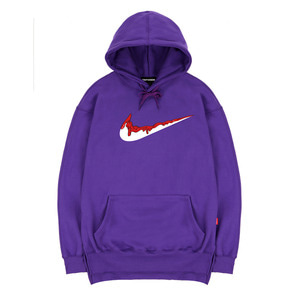 TRIPSHION RED BENDING TOOTHPASTE HOODIE - PURPLE