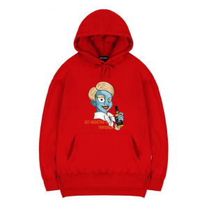 TRIPSHION ZOMBIE NOBLEMAN HOODIE - RED