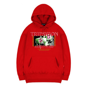TRIPSHION HALLUCINATION TV HOODIE - RED