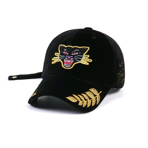 STIGMA BLACK PANTHER VELVET BASEBALL CAP BLACK