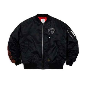STIGMA MASTERPIECE OVERSIZED MA-1 JACKET BLACK