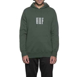 HUF MARKA PULLOVER FLEECE GREEN
