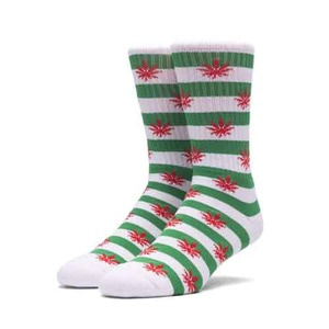HUF PLANTLIFE CANDY CANE SOCK GREEN