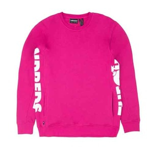 THE HUNDREDS Sidewinder Crewneck Fucshia