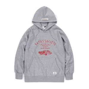 STIGMA LOW RIDER BRUSHED HEAVY SWEAT HOODIE GREY