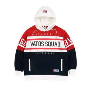 STIGMA SQUAD OVERSIZED HEAVY SWEAT RUGBY HOODIE NAVY
